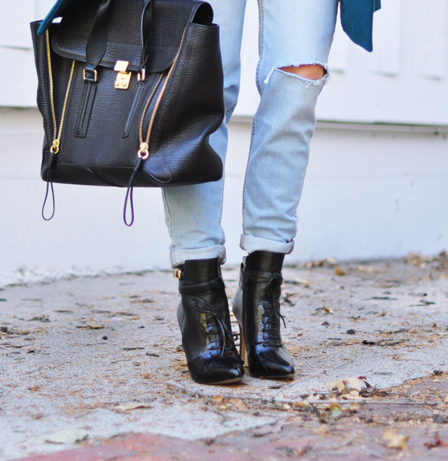 light ripped jeans-Altuzarra boots for Target Style