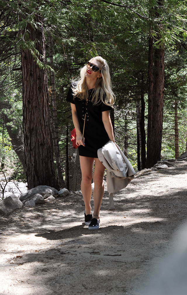 little black dress with vans