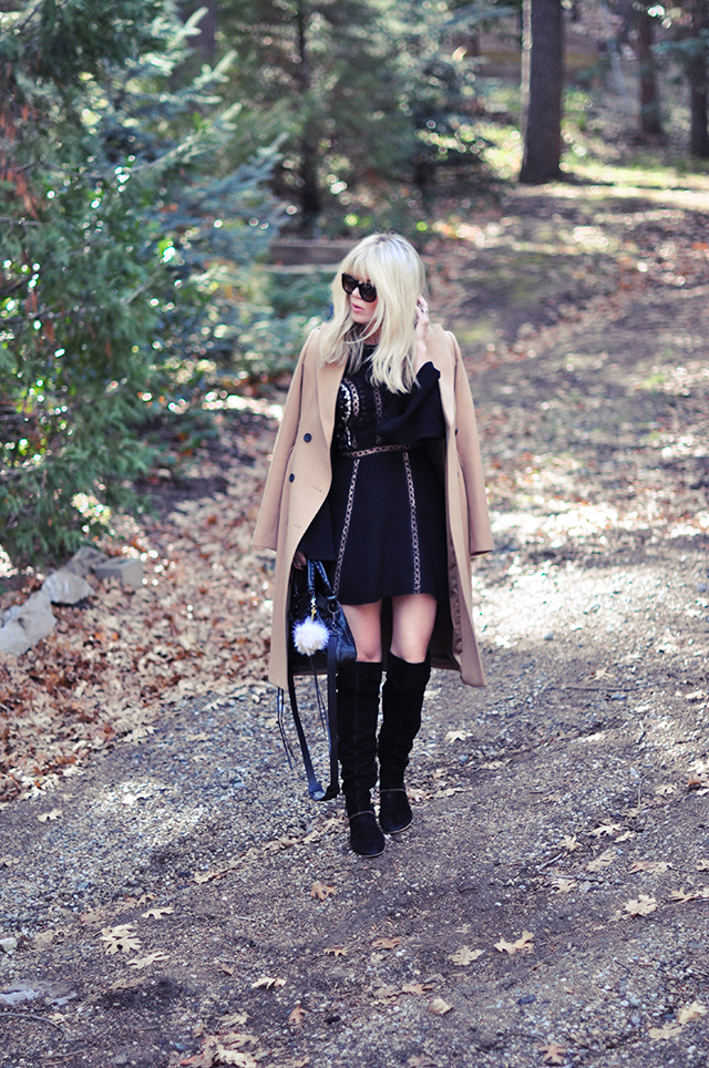 little black dress_boots_camel coat