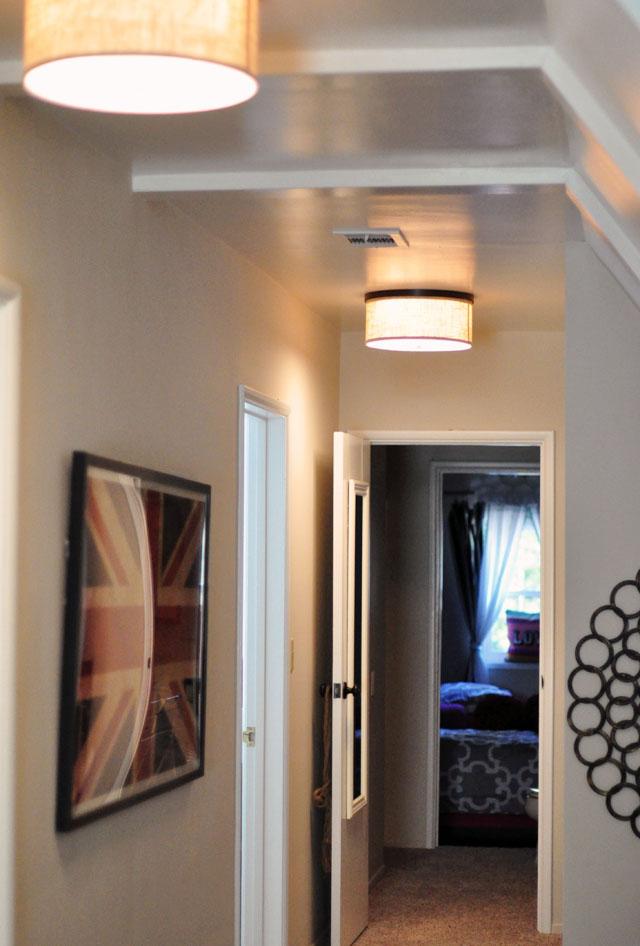 long hallway decor ceiling fixtures