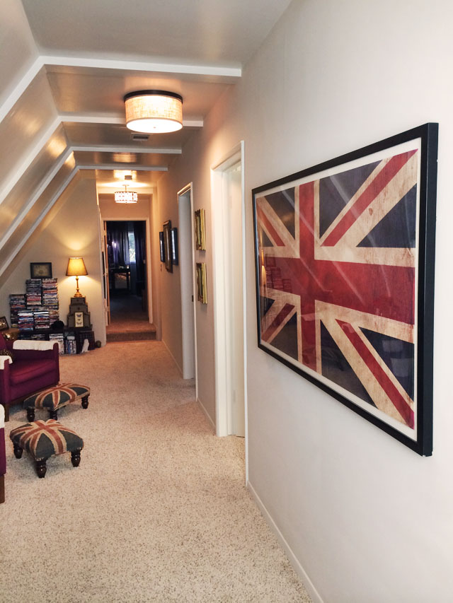 long slanted hallway decor