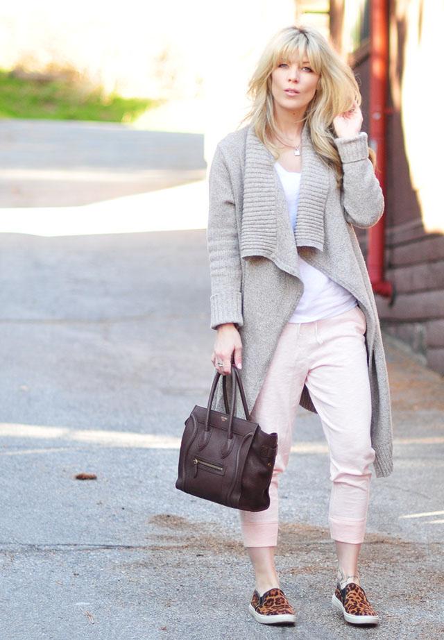 lougewear_sweats_leopard sneakers_celine bag