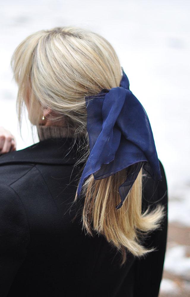 low loose ponytail