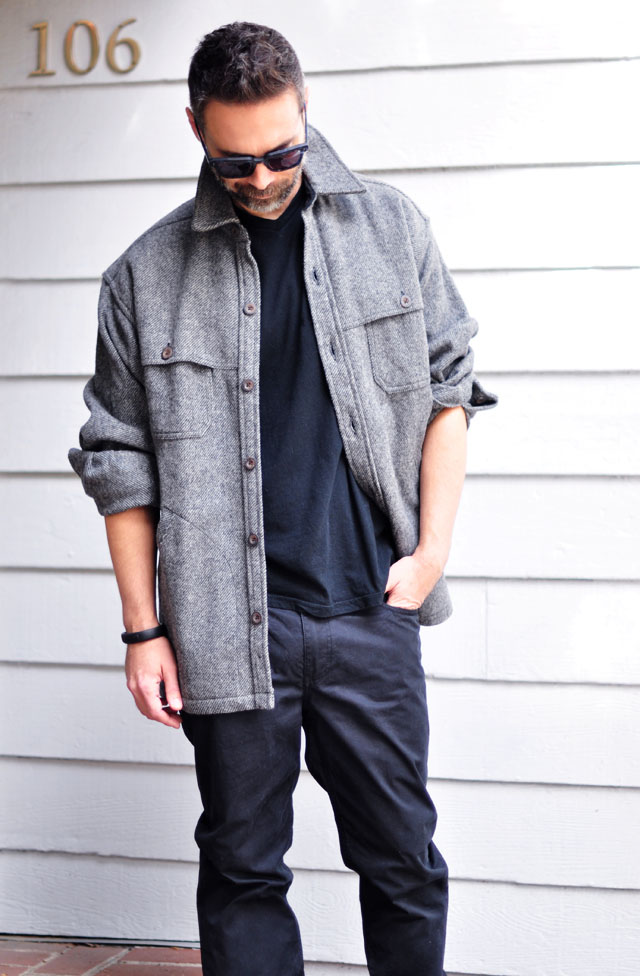 man style-black on black with gray