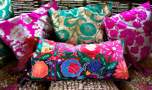 mexican textile pillows