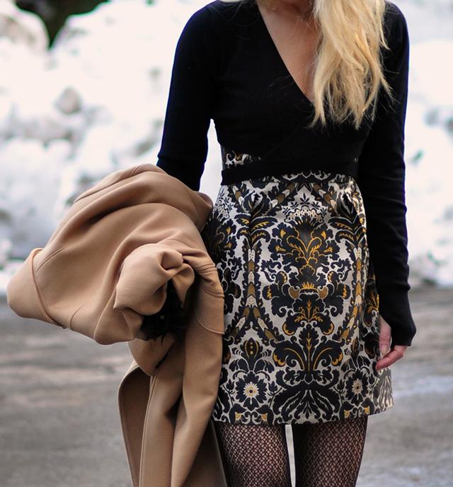 mini-dress-with-ballet-wrap-sweater