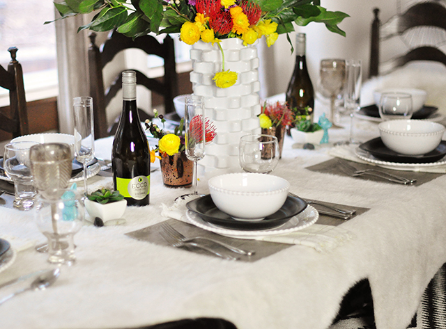 mixed texutres tablescape_wild flowers