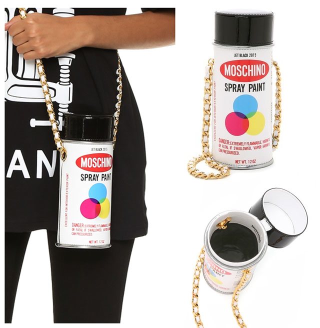 moschino spray paint bag