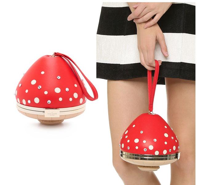 mushroom evening bag_kate spade
