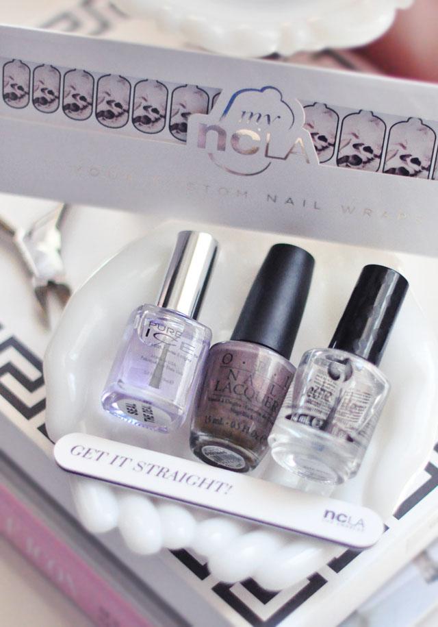 ncla custom nail art wraps+polish manicure
