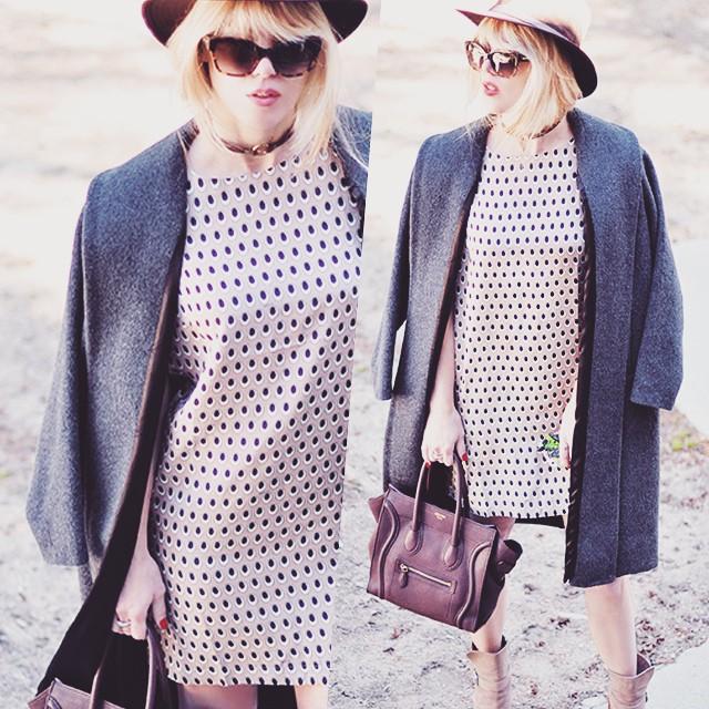 neutrals_shift dress_celine bag