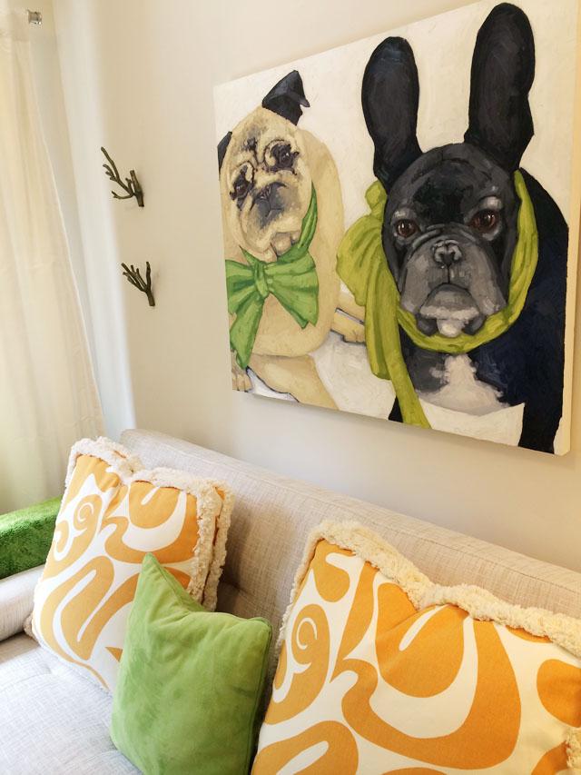 nicole newsted custom dog painting