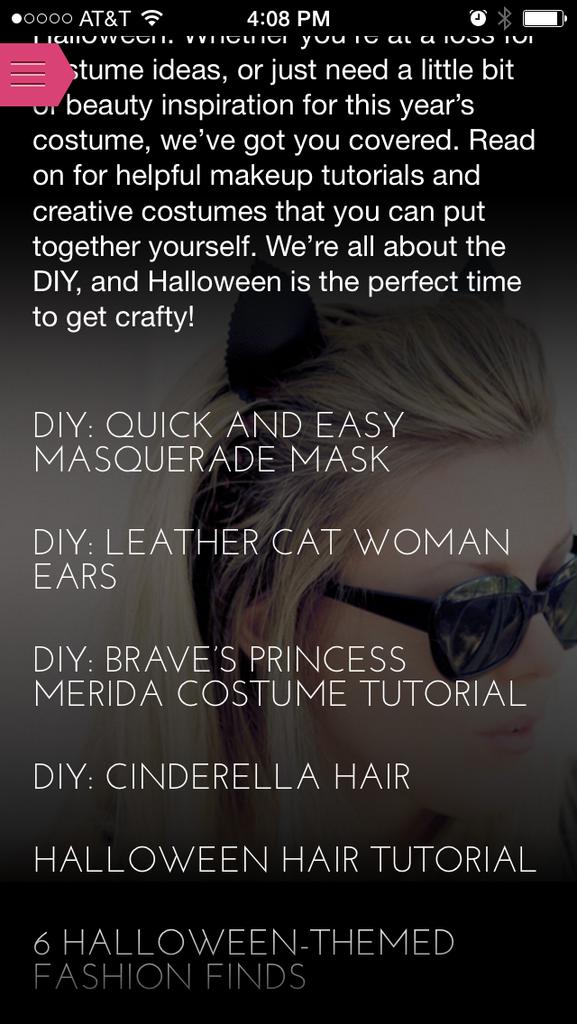 glam style app - haute halloween