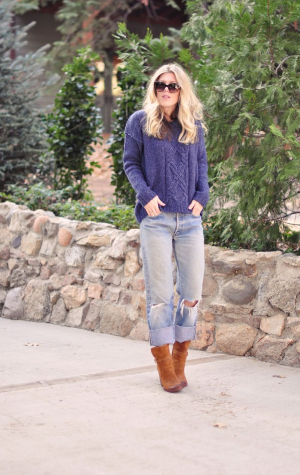 old levis-cozy knit sweater-boots