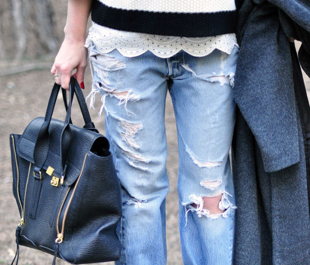 perfectly distressed levis jeans