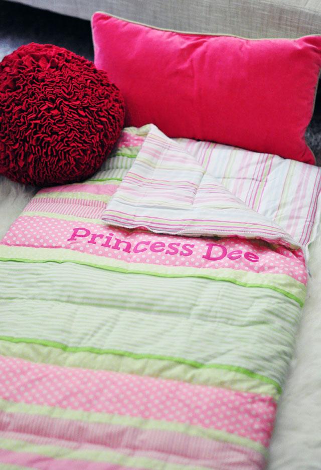 personalized kids sleeping bag