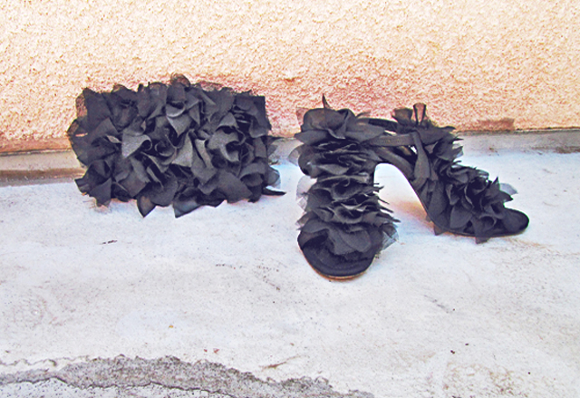 petal shoes and bag diy
