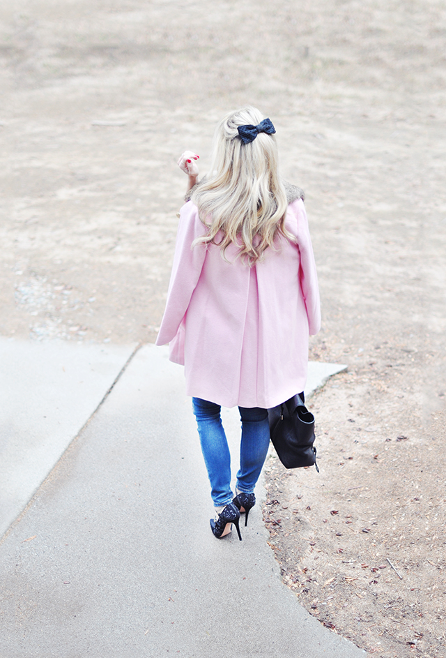 pink coat_hair bow