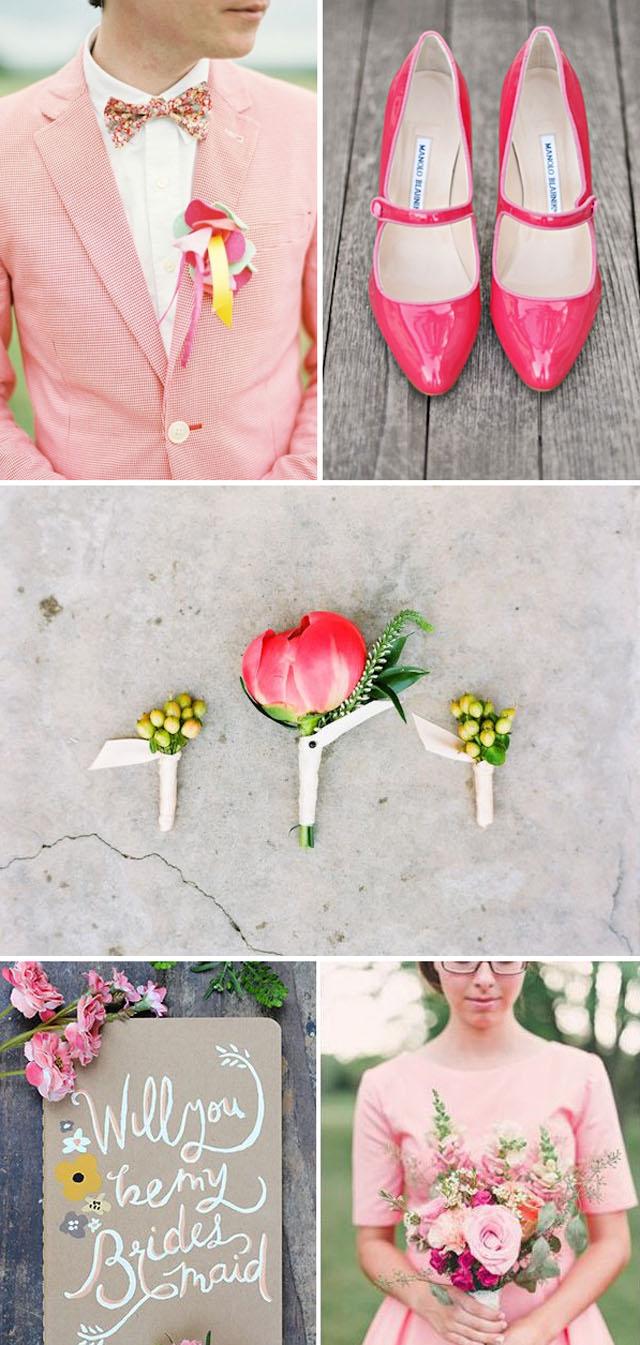 pink wedding inspiration