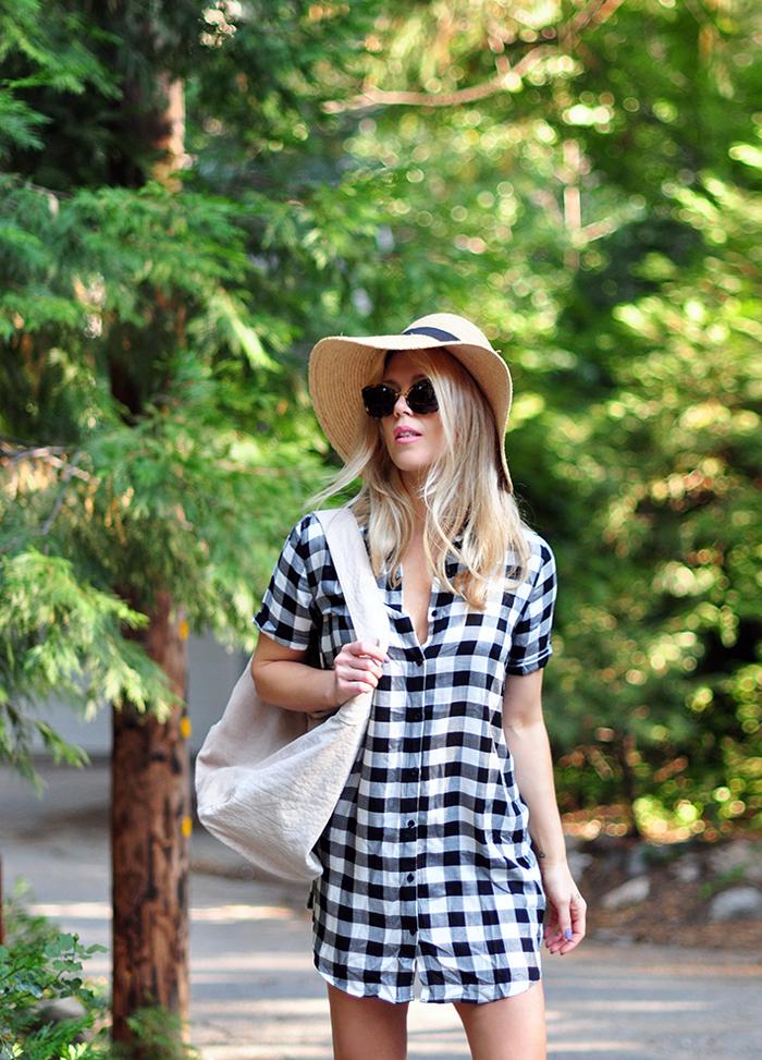plaid shirtdress summer style - maegan tintari