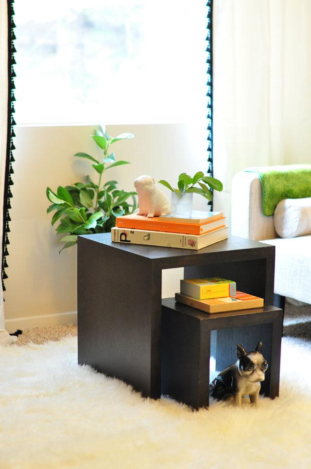 playful nesting coffee table decor