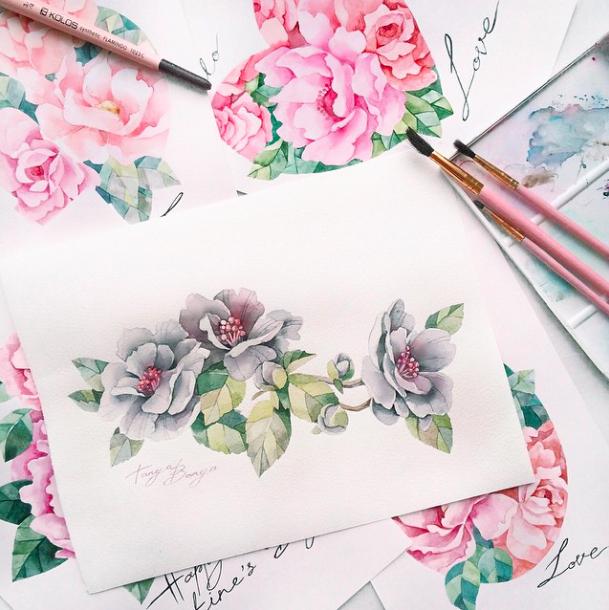 pretty florals_tanya bonya