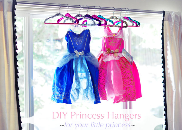 princess dresses on princess hangers