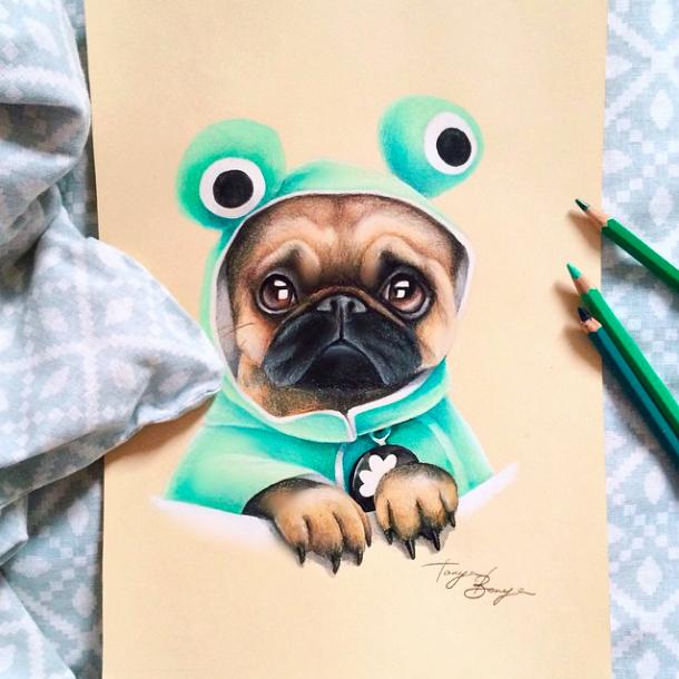 pug art_Tanya Bonya