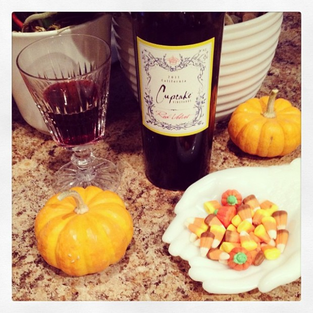 pumkins and wine