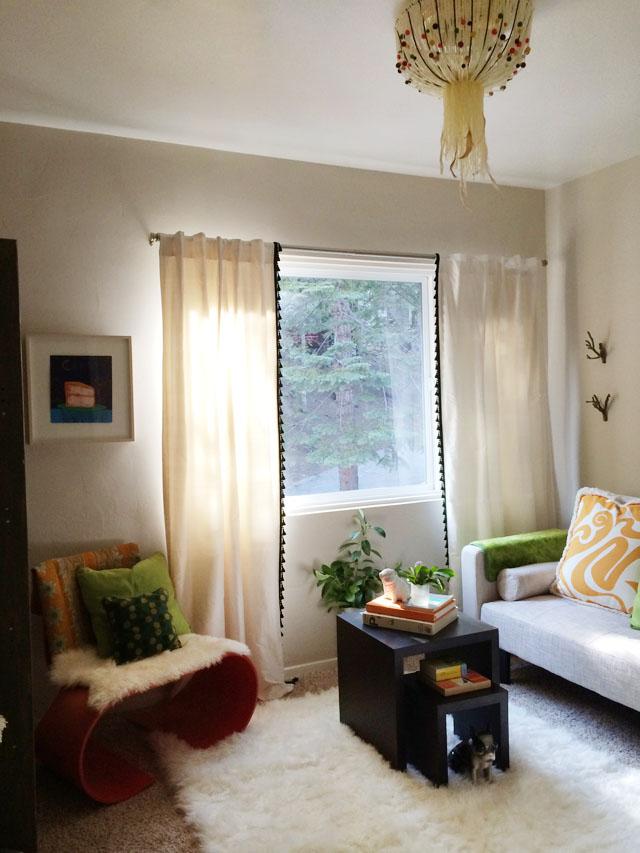 reading room playful decor-lime+orangesicle