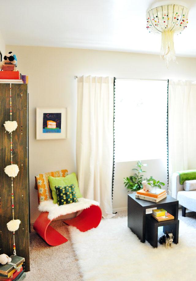reading room playful decor