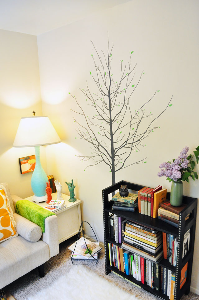 reading room-tree wall decal