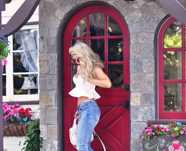 red door_jeans and peplum crop top_disney house