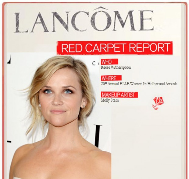 reese witherspoon lancome red carpet
