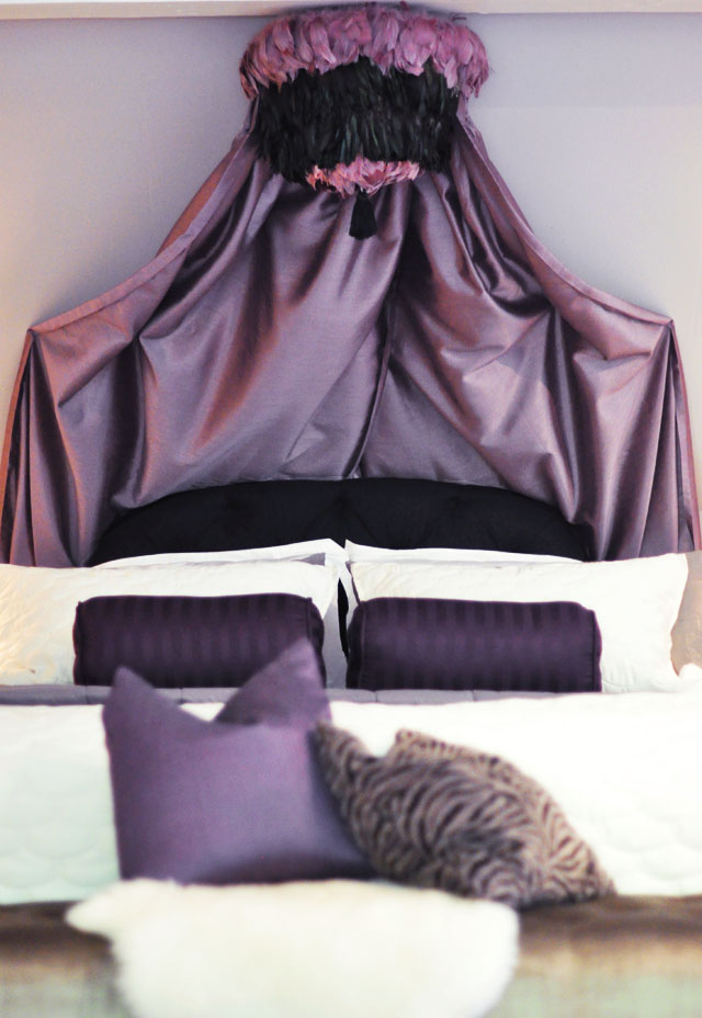 regal feather pendant bed canopy