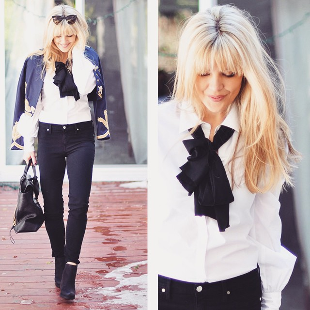 retro rock-bardot outfit with band jacket