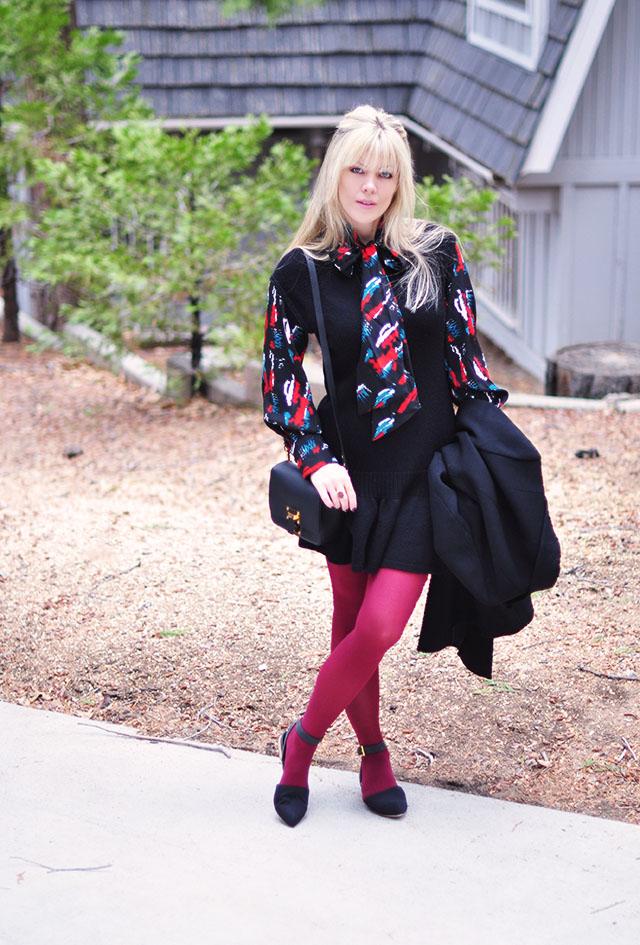 retro style-60s mod-mini dress with tights