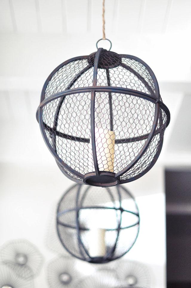 round rustic pendant lanterns