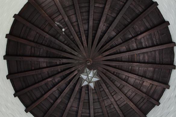 round wooden ceiling