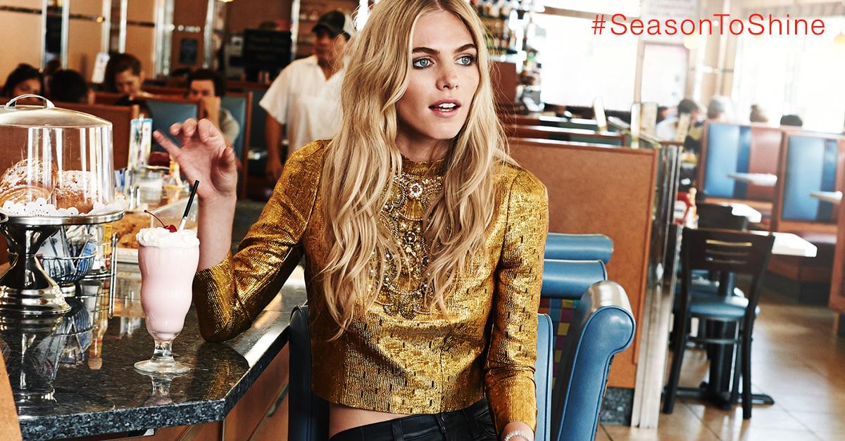 shopbop shine blog girl in diner