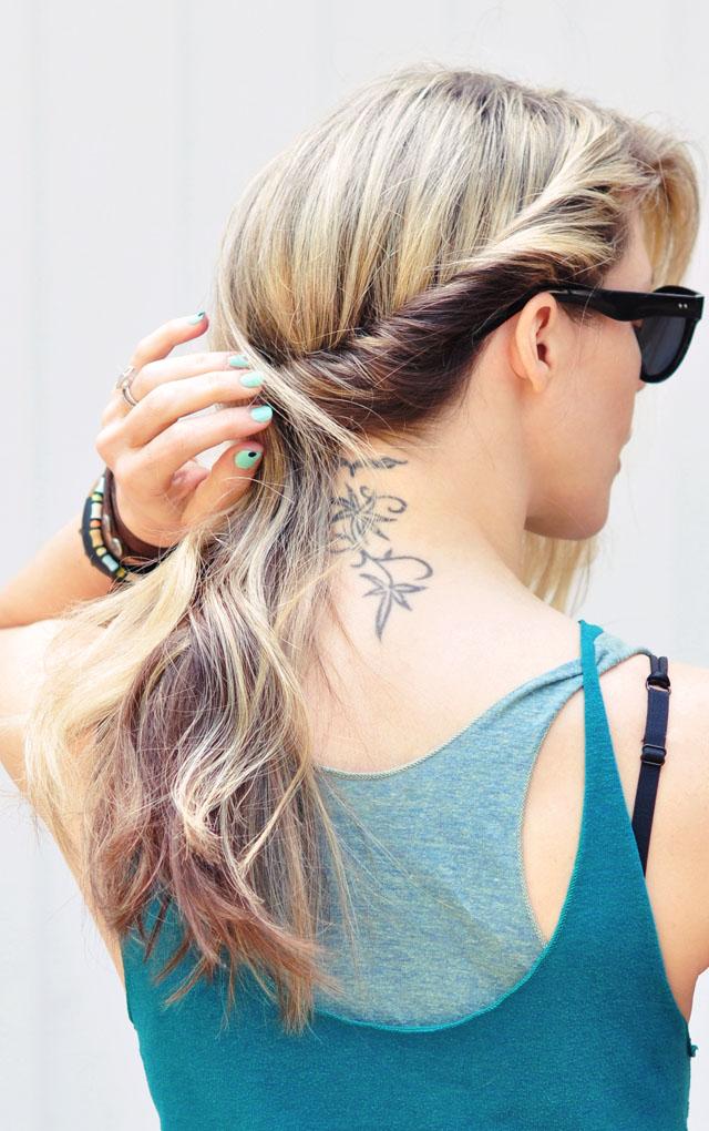 side twist hair style