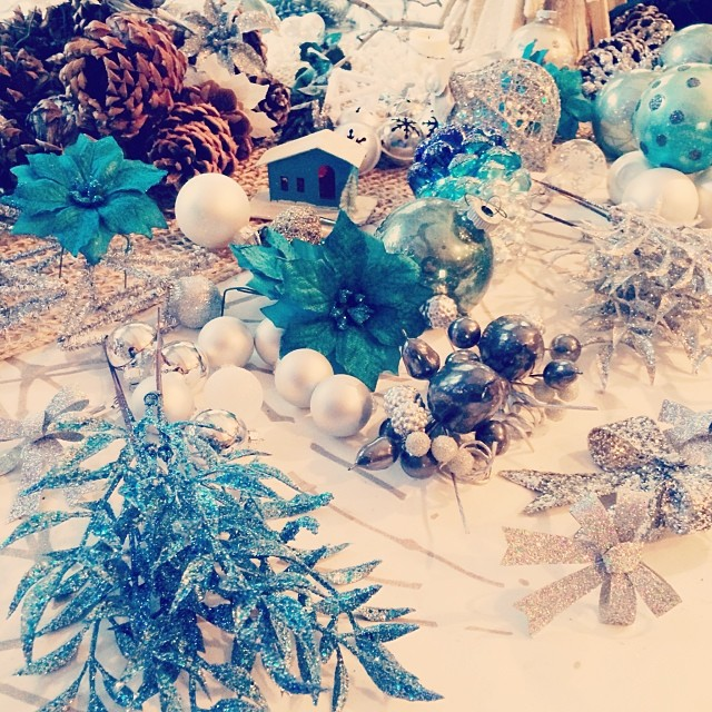 silver and teal christmas
