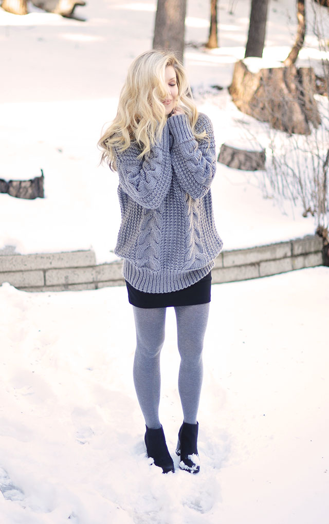 skirt in the snow