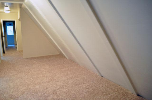 slanted hallway before