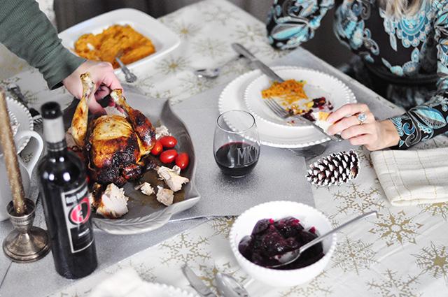small holiday friendsgiving dinner