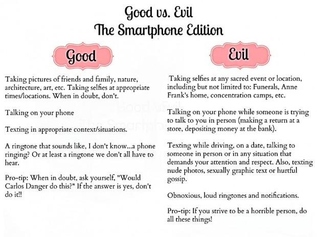 smartphones good vs evil