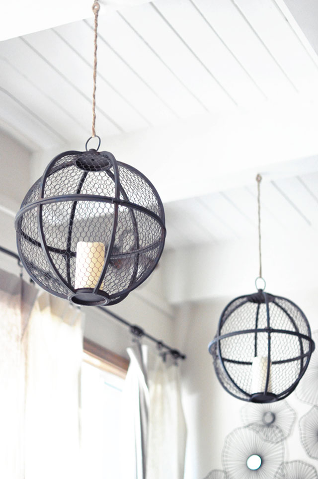 spherical hanging lanterns