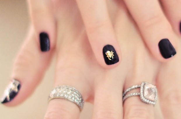 spider nails- pave diamond rings