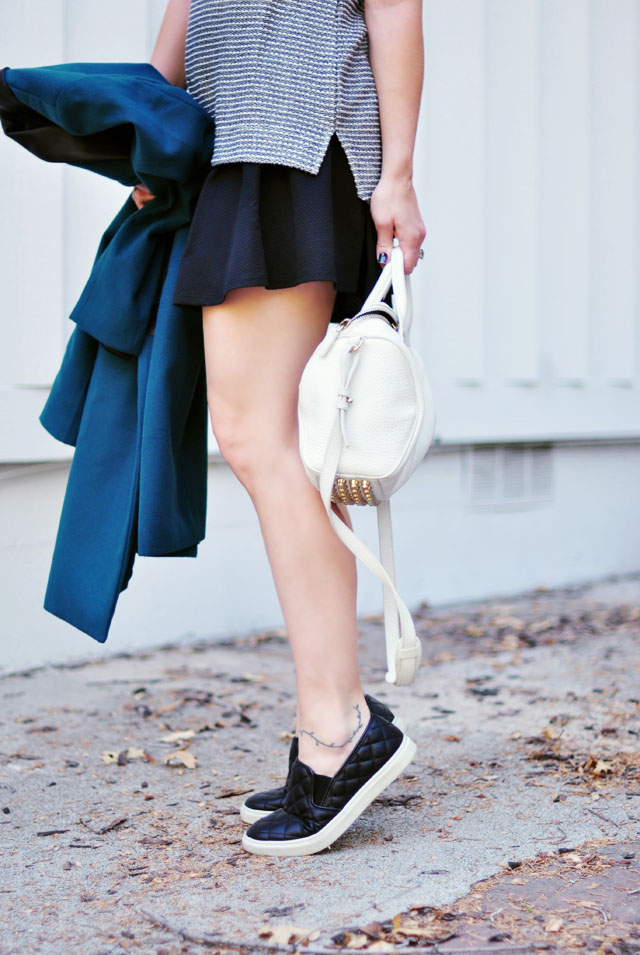 sporty outfit-quilted sneakers-Target Style