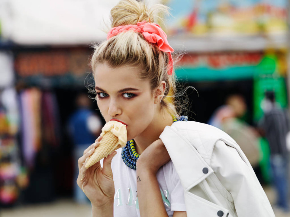 spring from shopbop-girl eating ice cream cone